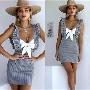Dresses & Skirts - NEW• Overalls Gingham Dress